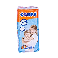 Baby Diapers Size3 (Midi)Economy Pack (Count 36 Diapers)