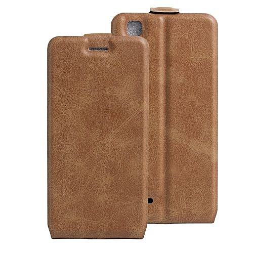 Buy Generic Pu Leather Flip Cover Case For Oppo F1 A35 Brown