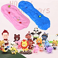 DIY Soft Fluffy Slime Stress Relief Plasticine Mud Clay Toy For Children Adults(Pink)