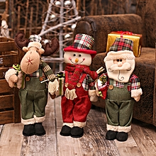 New Christmas Dolls Large Santa Snowman Figurine Christmas Gifts Toys for Christmas Decorations