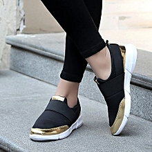 Blicool Shoes  Women Mesh Casual Loafers Breathable Flat Shoes Soft Running Shoes Gym Shoes BK#Black