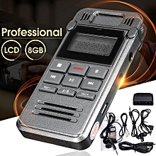 8GB Digital Audio Voice Recorder Recording Rechargeable Dictaphone MP3 Player