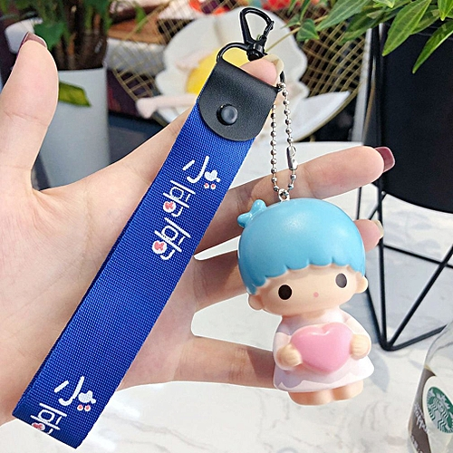 Allwin Angel Baby Car Key Chain Bag Pendant Handbag Keyring Christmas Birthday Gift Blue Little Brother Wristban Best Price