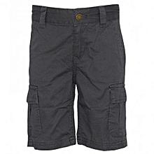 Grey Kids Cargo Pockets  Shorts