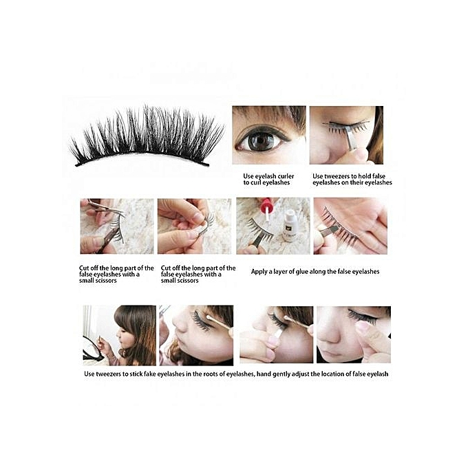 Buy Universal Natural Beauty 3d False Eyelashes Dense Thick Eye