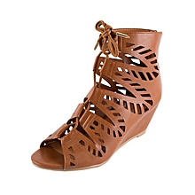 Brown Couture Wedges