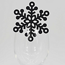 Christmas 50PC  Christmas Snowflake Claus   Wine Glass Paper Card Wedding Party