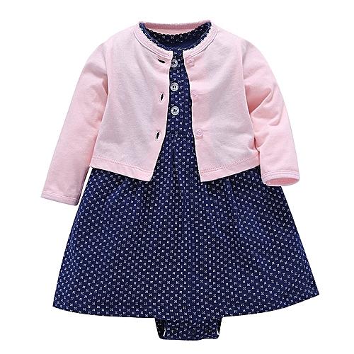 3f18c8c19 Generic 2018 Autumn Newbron Baby Girl Outfits long sleeve cardigan+ ...