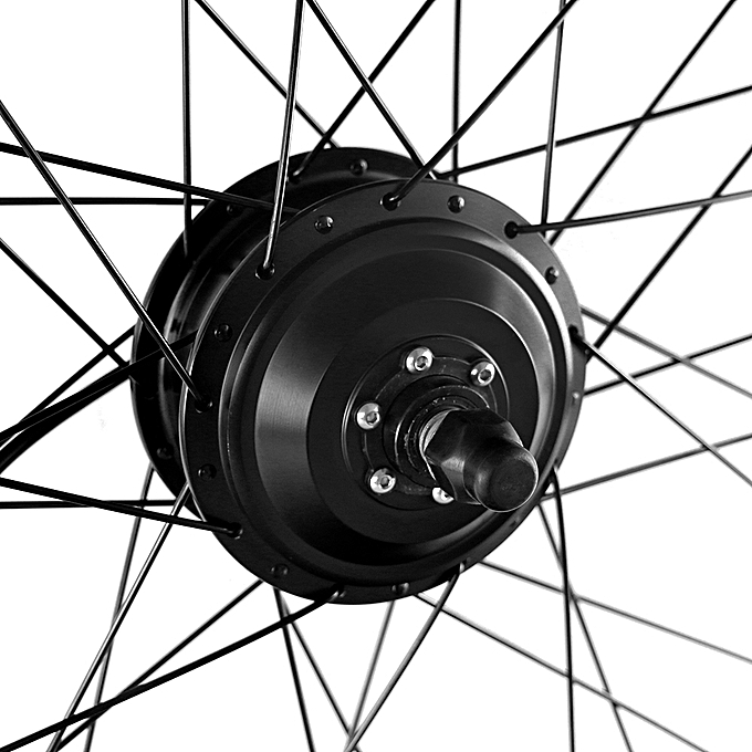 Generic 26x1 75 Electric Bicycle Rear Wheel Disc Brake Hub Motor