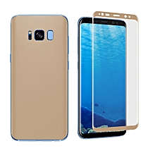 For Galaxy S8 Angibabe 0.1mm PET Curved Electroplate Front + Back Soft Full Screen Protector Film (Gold)