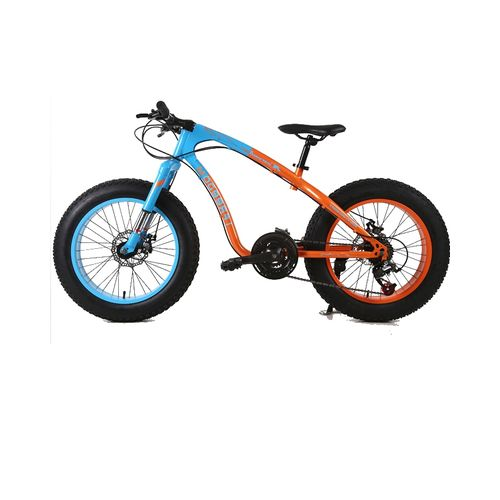 "Exercise Bike Jumia Kenya: Shimano 20"" 21 Speed Orange Blue Fat Tire Mountain Bike"