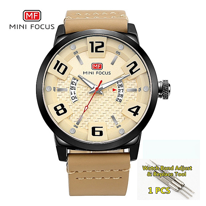 80fcf8b0 Watches Men Top Brand Luxury Creative Leather Sport Watch Men Military  Waterproof Wristwatches Mens reloj hombre 2019(yellow)