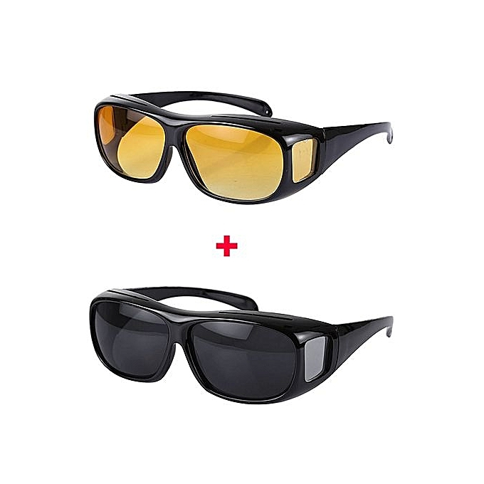 2b4234a459 Generic HD Polarized Day And Night Vision Driving Glasses- Black And ...