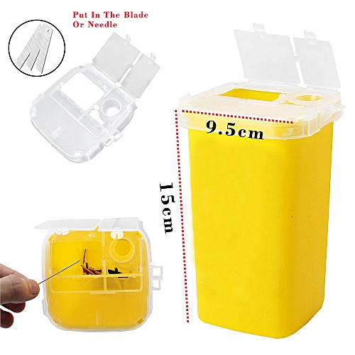 Red Sharps Container Biohazard Needle Disposal Container