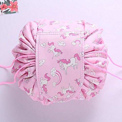 c13bc9bb61df Animal Flamingo Cosmetic Bag Professional Drawstring Makeup Case Women  Travel Make Up Organizer Storage Pouch Toiletry Kit (6)
