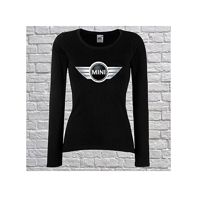 Fashion Women T Shirt Mini Cooper Logo Fun Long Sleeve T Shirt