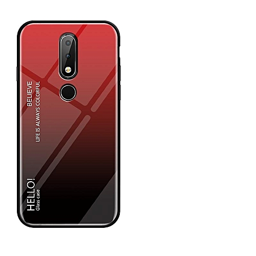 promo code 3a0c8 ff9a2 For Nokia 6.1 Plus/Nokia X6 Case,Ultra Thin Slim Shockproof Protective TPU  Bumper Case + Hard Back Tempered Glass Grip Cover For Nokia X6/Nokia 6.1 ...