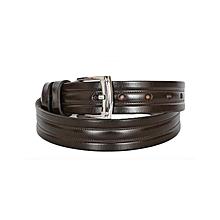 Chocolate Dark Tan Men's Belt