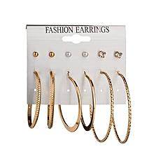 douajso Fashion Earrings Ear Ring Set Combination Of 6 Sets of large circle