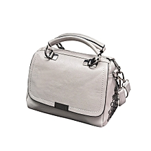 Africanmall store Casual Leather Handbag Shoulder Bag Messenger Bag Larger Size Winter Women BagGY-Gray