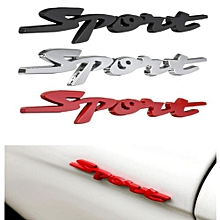 3D Chrome Badge Sticker Emblem Metal Decal For Sport Red Motors Car Racing (Red)