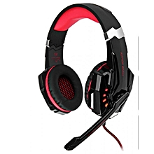 G9000 - 3.5mm Gaming Headset Headphones With Mic LED - Red/Black