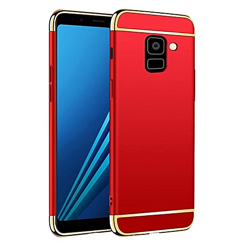 info for 2224b 5f085 Galaxy A8 Plus 2018 Case, Shockproof Thin Hard Case Cover for Galaxy A8  Plus (Red)