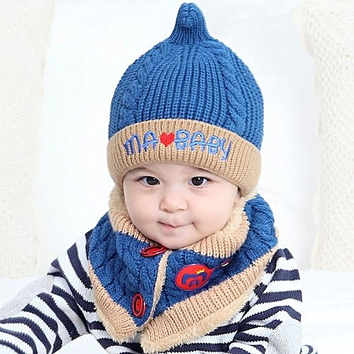 Eissely Baby Boys Girls Beanie Letter Cotton Hat Children Print Hats  Knitting Hats 3e9715cbb9c
