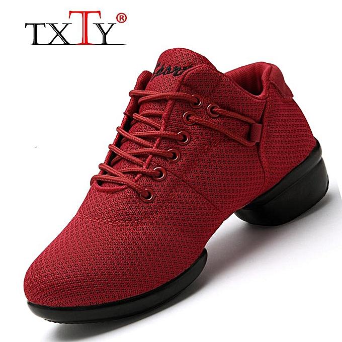 timeless design 74dcf 20ced Ew Soft Outsole Breath Dance Shoes Women Sports Feature Dance Sneakers Jazz  Hip Hop Shoes Woman Comfortable Dancing Shoe