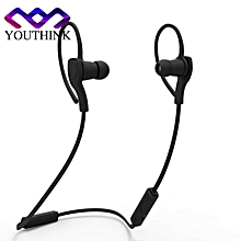 BT-H06 Wireless Mini Bluetooth Stereo Sport Earphone Handfree with Microphone(Black) - Intl BDZ