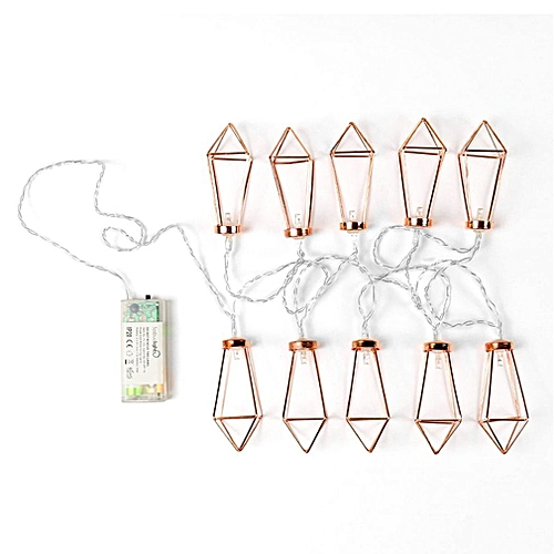 Allwin Rose Gold Metal Diamond Water Drip String Lights 1 5m Holiday