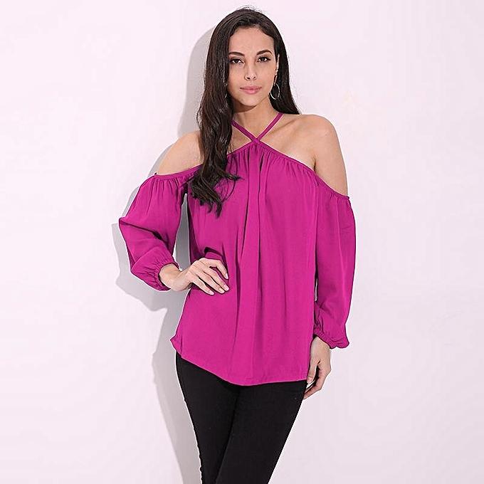9dacfee0f12b4 ZANZEA Women Fashion Tops Summer Europe Style Ladies Halter Neck Off  Shoulder Blouse S Hirt Fashion
