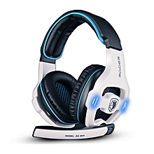 Sades SA-903 Gaming Headset 7.1 Surround Sound Channel USB Wired Headphone with Mic Volume Control