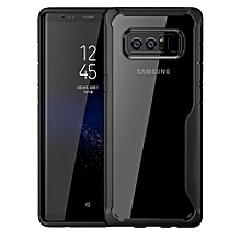 Samsung Galaxy Note8 Silicon Transparent Case, PC And TPU Anti-knock Phone Back Cover For Samsung Galaxy Note8-black.