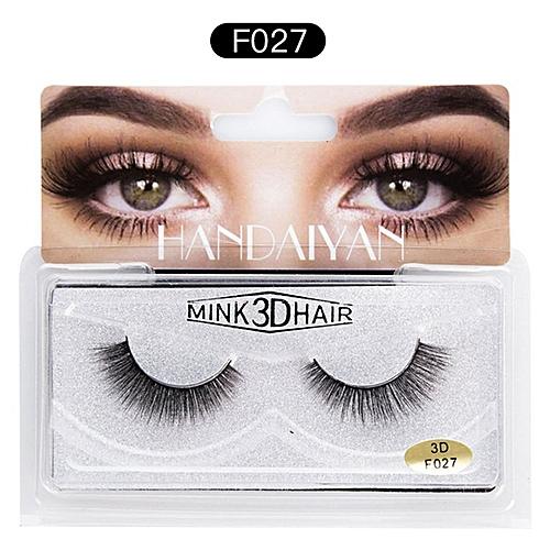 a13279b1a02 Allwin 3D Mink False Eyelashes Natural Thick EyeLashes Makeup Beauty Tools  Eye Makeup F027 @ Best Price   Jumia Kenya