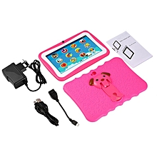 7 Inch Quad Core Children Learning Tablet PC 512MB RAM+8GB ROM for Android 4.4 pink