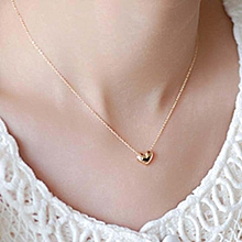 Grace Linfang Chic Tiny Elegant Small Gold Love Heart Short Necklace