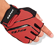 2PCS SAHOO Anti-slip Hydrofuge Half Finger Bike Cycling Gloves Summer Racing Mountain Bicycle Red