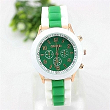 Watch Rubber Candy Jelly Fashion Unisex Silicone Quartz(Green)
