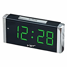 VST Rectangular Cube Digital Alarm Clock With EU Plug Large Digital LED Display Desktop Clock Home L
