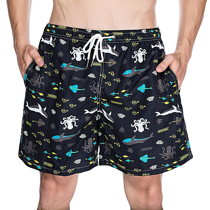 c669507acd Fashion Men's Summer Printed Sport Swimming Quick Drying Casual Loose Beach  Pants