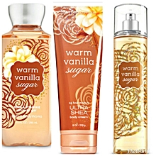 Warm Vanilla Sugar Fine Fragrance Mist, Body Cream and shower gel