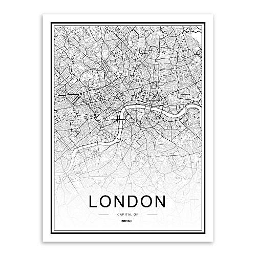 Buy Generic World City Map London Paris New York Poster Nordic Home ...