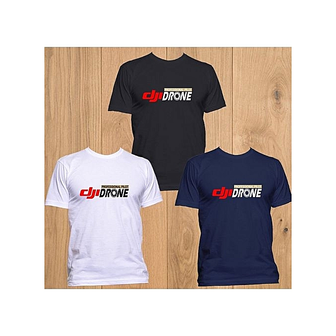 9c7a29ec New Dji Professional Pilot Drone Mens T-shirt Short Sleeves Summer Funny  Shirt