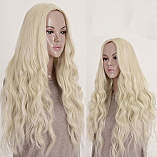 Women Long Fashion Blonde Wavy Curly Full Wig Cosplay Party Princess Hair Style