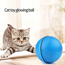 Funny Creative Pet Cat LED Light Electronic Rolling Glowing Ball (Blue)