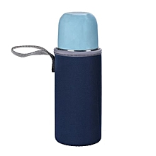 Clear Plastic Water Cup Bottle Portable Bag -Dark Blue