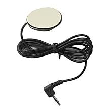 OR 3.5mm Wired External Car Microphone Paste Type Loud Speaker For DVD Radio Black