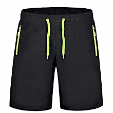 2018 New Fashion Men's Outdoor Running Hiking Casual 5 Cropped Sports Shorts-Green