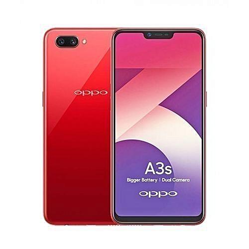 "A3s - 6.2"" - 2GB- 16GB- 13+2MP Camera - Dual SIM- RED"